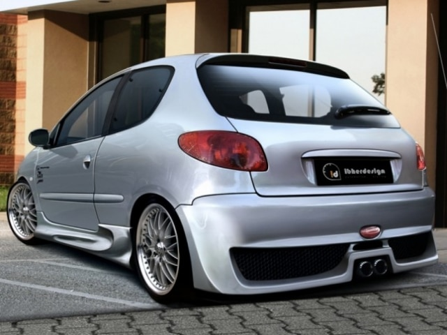 "body kit peugeot 206 ""tekno"" - ibherdesign automotive styling and"